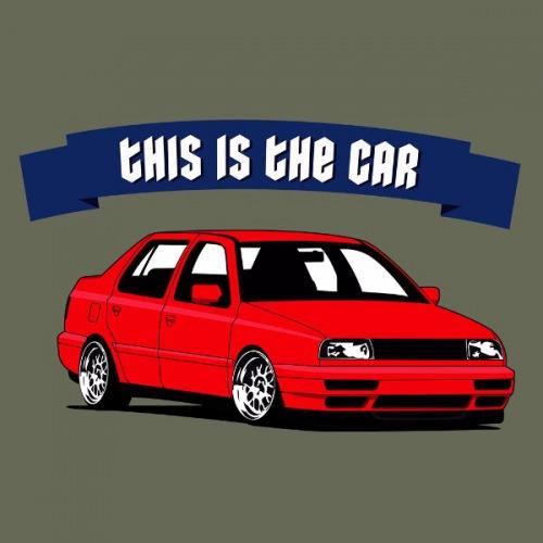 Dámské tričko s potiskem VW Vento: This is Car Červený
