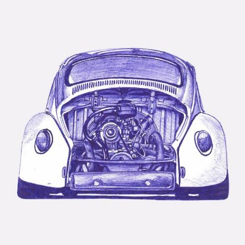 Dámské tričko s potiskem VW Beetle - Bug
