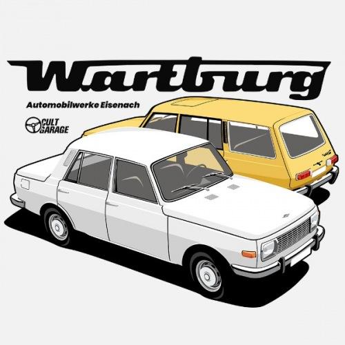 Pánské tričko s potiskem Wartburg 353 bílo-žlutý 1