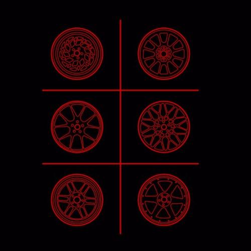 Dámské tričko s potiskem Wheels Grid
